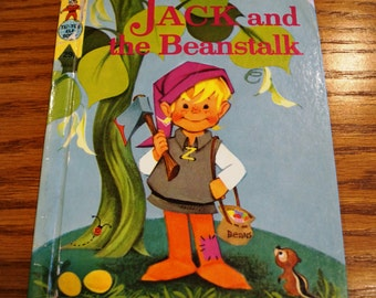 Vintage Rand McNally Book, 'Jack and the Beanstalk' 1961