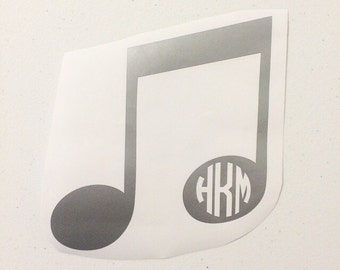 Music Note Monogram Decal