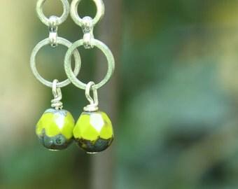 handmade earrings, glass bead earrings, handcrafted earrings handmade jewelry, beaded earrings, sterling silver earrings