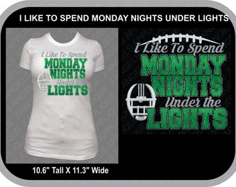 I Like To Spend Monday Nights Under The Lights SVG Cutter Design INSTANT DOWNLOAD