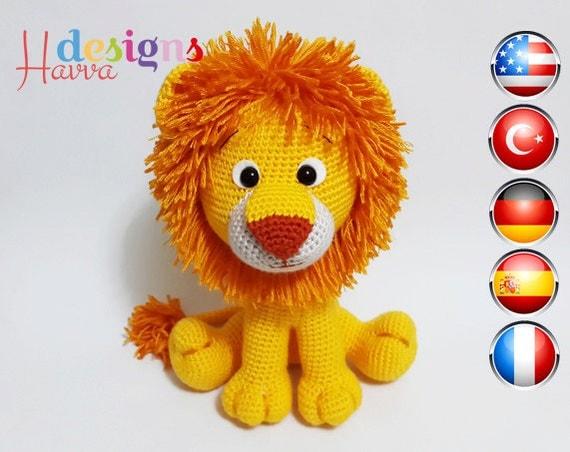 Amigurumi Patterns Lion : PATTERN Lion Amigurumi by HavvaDesigns on Etsy