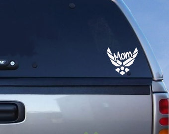 "Airforce Mom Decal - 5.5"" x 5"""