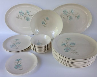 24 Piece Taylor Smith Taylor Bountonniere Dinnerware, Ever Yours, TST, TS&T