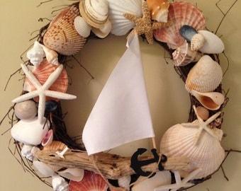 Beach Decor - Nautical Twig Wreath (TW003)