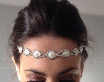 1920s Feather Flapper Gatsby Headband Hairband