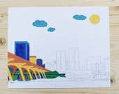 Paint By Number - 8x10 - Richmond Skyline - Richmond, VA