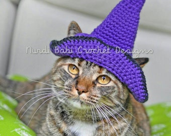 Cat Hat Halloween Witch's Pet Hat Made to Order