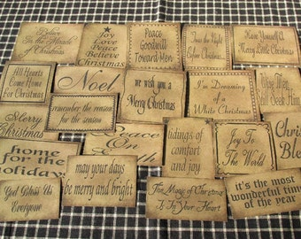 Christmas Sentiments Prim Pantry Labels