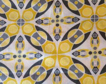 SILENT CINEMA By Jenean Morrison - Fabric - Iris in Yellow - Free Spirit - Westminster - Quilting - Sewing - Crafting - Home Decor - OOP