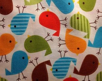 URBAN ZOOLOGIE By Ann Kelle - Fabric - Birds in BERMUDA - Robert Kaufman - Nursery - Sewing - Baby - Quilting - Home Decor