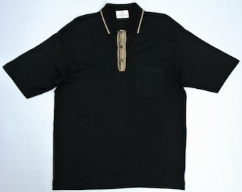 Givenchy Shirt Men Large Vintage Givenchy Polo Shirt Givenchy Black Polo T Thin Fabric Made in Italy Polo T