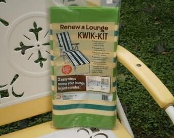 Retro 1970s Renew A Lounge Kwik Kit Lawn Chair Chaise Lounge Cover Webbing