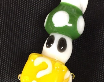 Glass Super Mario Pendant