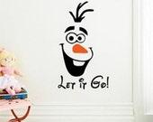 Olaf Let it Go Wall Decal/Sticker
