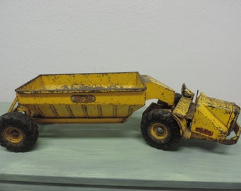 Vintage Pressed Metal Toy Truck Doepke Wooldridge Earth Mover