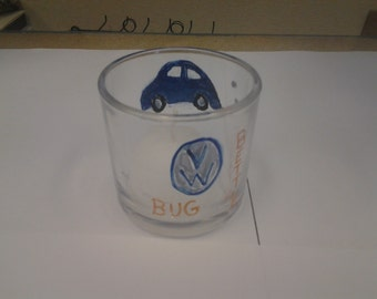 Hand painted Volkswagen bug Candle holder