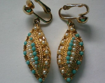 Sarah Coventry Dangle Clip Earrings - 4051