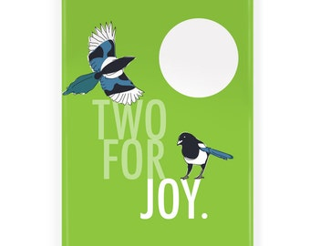 Two for Joy Magpie Fridge Magnet - Colletible Refrigerator Magnets