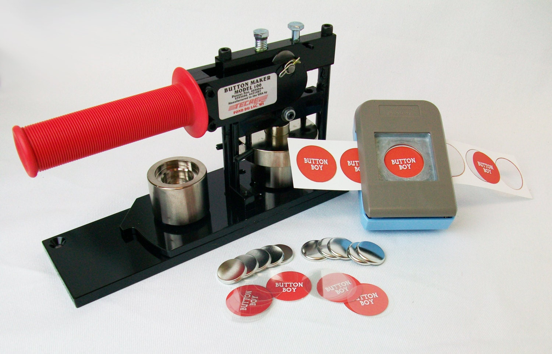 custom button making machine