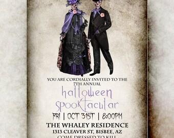 Adult Halloween Invitation - Halloween invitation printable, Halloween invitation, adult party Halloween