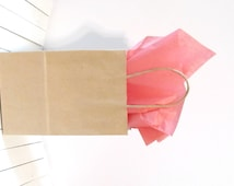 "100 -  10 1/4"" x 8"" x 4 1/2""  Kraft Paper Bags w/ Handles - Great for Weddings, Gifts, Favors - Baby Showers, Weddings, Holidays"