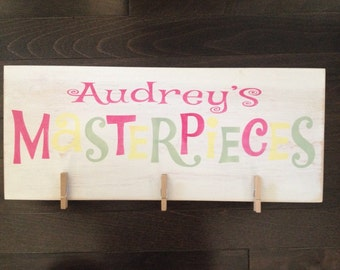 Personalized Masterpieces Child's Brag Board, Hand Painted by, IzzyB Vintage Me