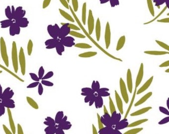 "Purple Flowers Gift Wrap Wrapping Paper Tissue Paper Biodegradable Colourfast (Pack of 5) 30x20"" / 750x500mm"
