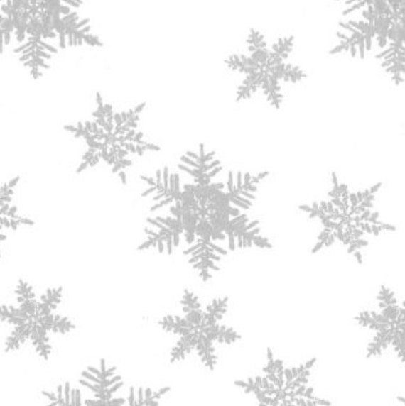 Paper Tissue Snowflake Christmas Decorations By Pearl And: Pearl White Silver Snowflakes Christmas Gift Wrap Wrapping