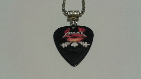 metallica guitar custom necklace