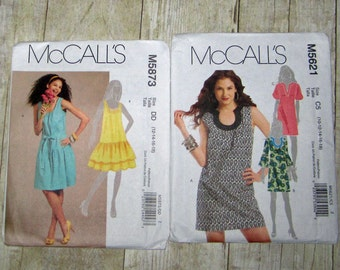 123)  Mccalls 5873 Misses Size 12 14 16 18 Dress  Mccalls 5621 Misses Size 10 12 14 16 18 Dress