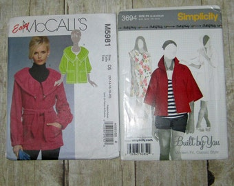 52)  Simplicity 3694  Misses Sizes 12-20  Jacket  Mccalls 5981 Misses Size 12-20 Jacket