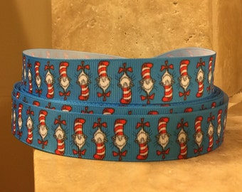 5 YDS Dr Seuss' Cat In The Hat Ribbon