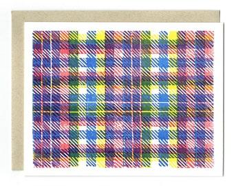Primaries Madras Letterpress Card