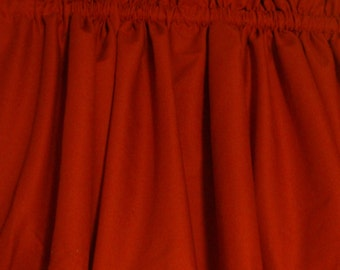 "Bright Red Valance Curtain Window Treatment Cotton Fabric 40"" X 14"""