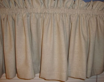 Primitive Country Muslin Valance Curtain Custom Made