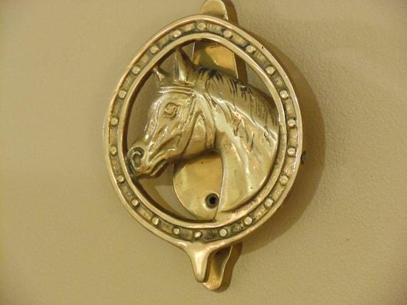 Solid brass horse head door knocker - Horse head door knocker ...