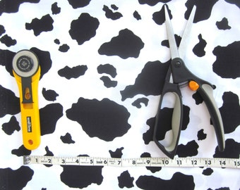 Cow Print Fabric, Animal Print, Western Print, Toy Story Fabric , 1 yard, Cotton Fabric