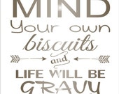MIND your own biscuits - Cottage SIGNS **Stencil**- 6 sizes available- Create FUN Cottage signs!