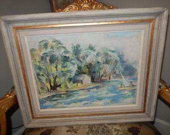 NEW LONDON CONNECTICUT Original Oil Painting