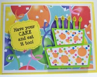 Topsy Turvy Birthday Card