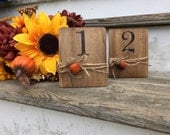 Autumn Wedding Table Numbers, Fall Wedding Table Numbers, Fall Table Numbers, Acorn Table Numbers, Thanksgiving Table Numbers, Rustic Table