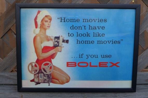 Vintage Bolex Camera Ad - Framed Hires Print from Original Catalog
