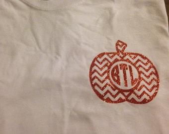 Monogram pumpkin long sleeve t shirt