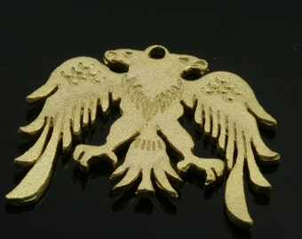 1 pc gold plated alloy eagle pendant 34x30 mm  brass  findings 473