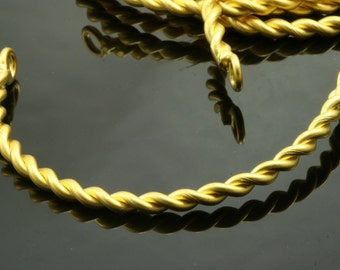 1 pc  64 mm gold plated curved twisted copper 624