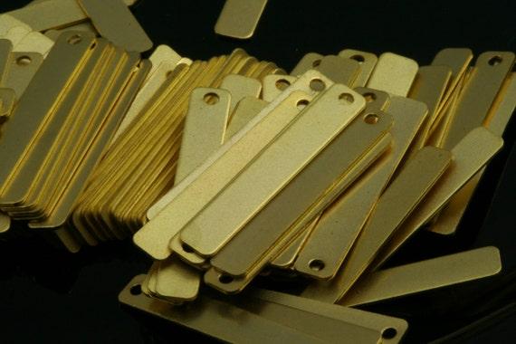20 pcs  25 x 4  mm gold plated rectangle shape pendant brass gold plated brass 582