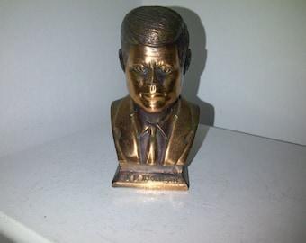 JFK Copper Toned Bust