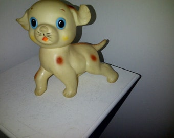 Vintage Squeak Toy Dog Made in Japan
