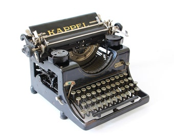 Original Kappel typewriter Germany Chemniz 1921 black antique model 2 REFURBISHED