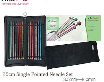 knitpro dreamz 25cm single point straight needle set dreamz bathroom dollhouse